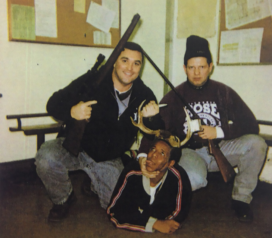 Herbert represented CPD detective Timothy McDermott, right, after a 2002 photo surfaced showing McDermott posing with fellow officer Jerome Finnigan, left, and a black arrestee later identified as 18-year-old Michael Spann. The photo was widely cited as an example of CPD's deep-rooted racism.