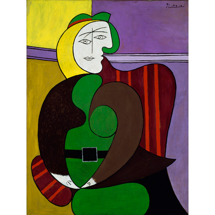 """The Red Armchair (1931), part of """"Picasso and Chicago"""""""