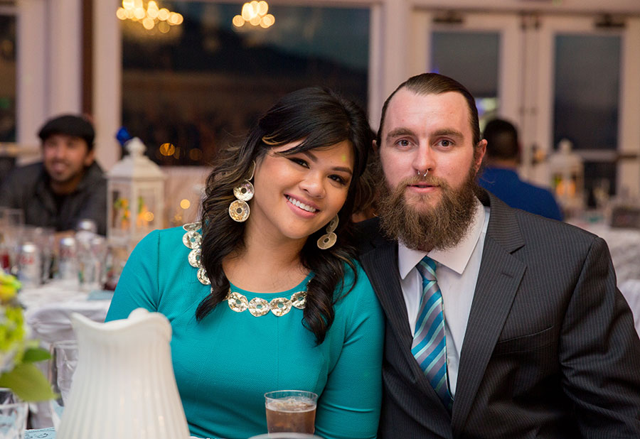 Blaine Klingenberg, right, and his girlfriend, Maja Perez, at her brother's wedding last March