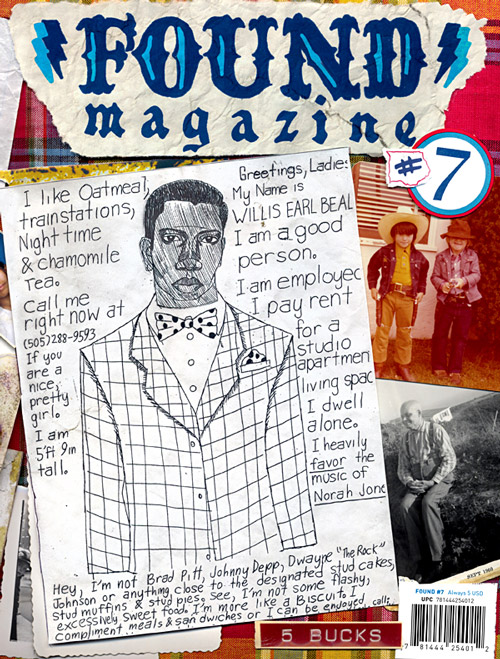 One of Beal's flyers on the cover of <i>Found</i>