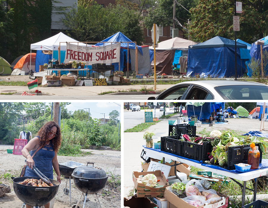 At the Freedom Square encampment, organizers put their abolitionist ideals into practice by providing free food and education for the community.