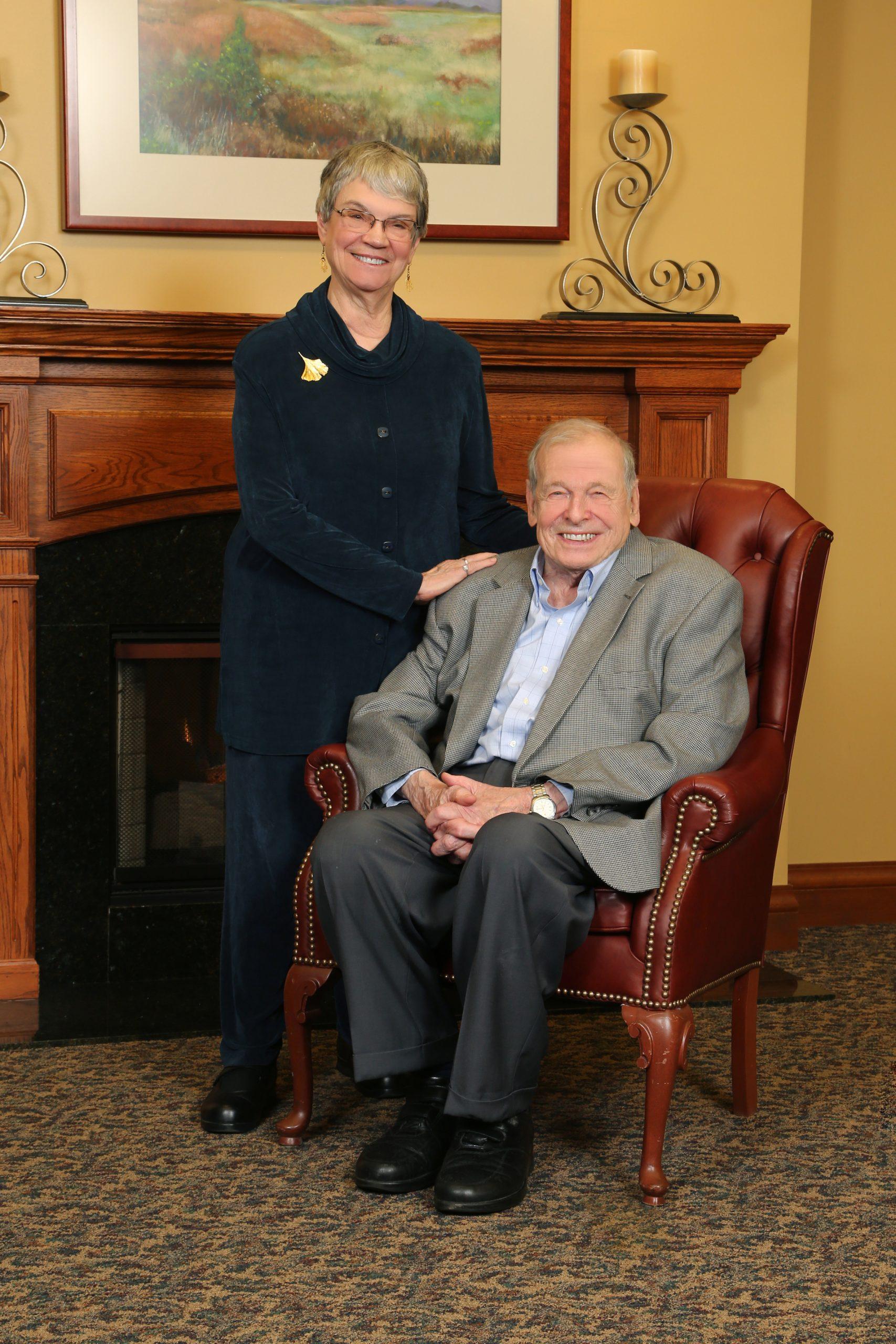 Peter Braunfeld and his wife, Judith Morse Braunfeld