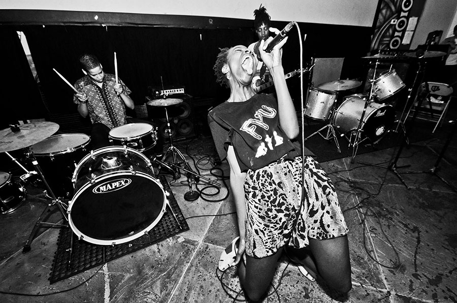 Los Angeles punks Fuck U Pay Us perform at last year's Black and Brown Punk Show Festival.