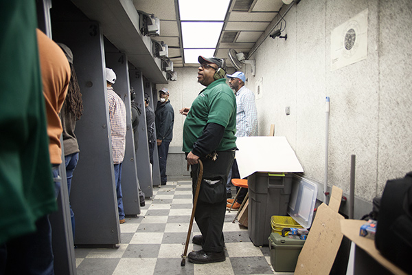 Participants in Vernon's two-day conceal-and-carry course spend a full day in the classroom before heading to the firing range.