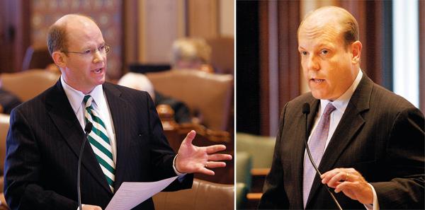 State senator Don Harmon, state rep Harry Osterman