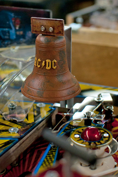 """A detail from the soon-to-be-released AC/DC pinball game evokes """"Hell's Bells"""""""