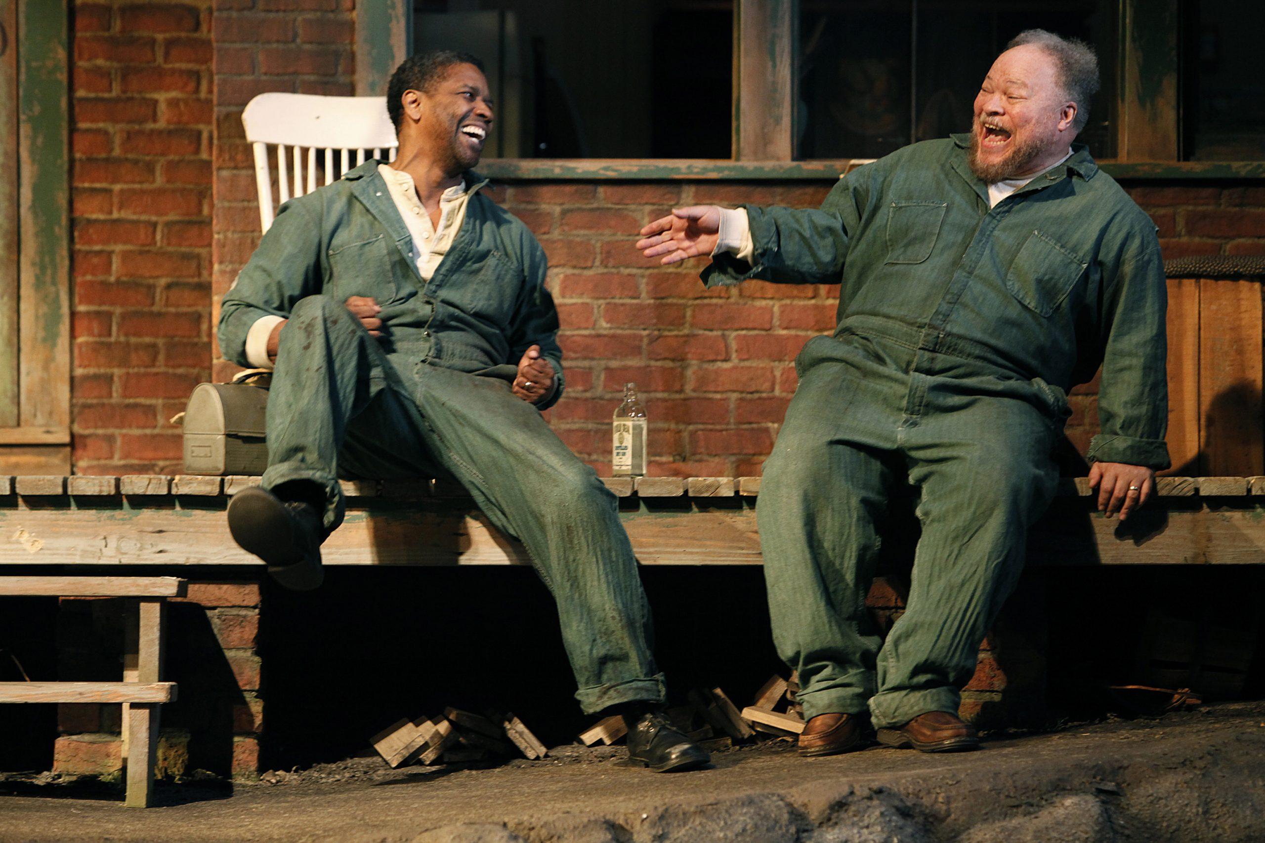 Washington and Henderson in <i>Fences</i> on Broadway