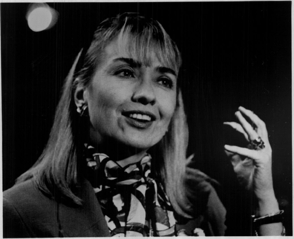 Clinton in 1991, during her husband's first presidential campaign