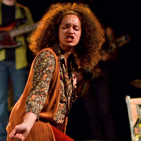 Shannon Matesky in the 2012 production of the Inconvenience's <i>Hit the Wall</i>