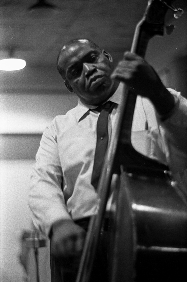 Willie Dixon performing at a recording session at Delmark Records on June 26, 1968
