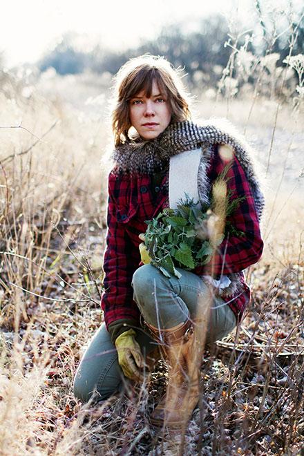 Iliana Regan, foraging in the fall of 2011