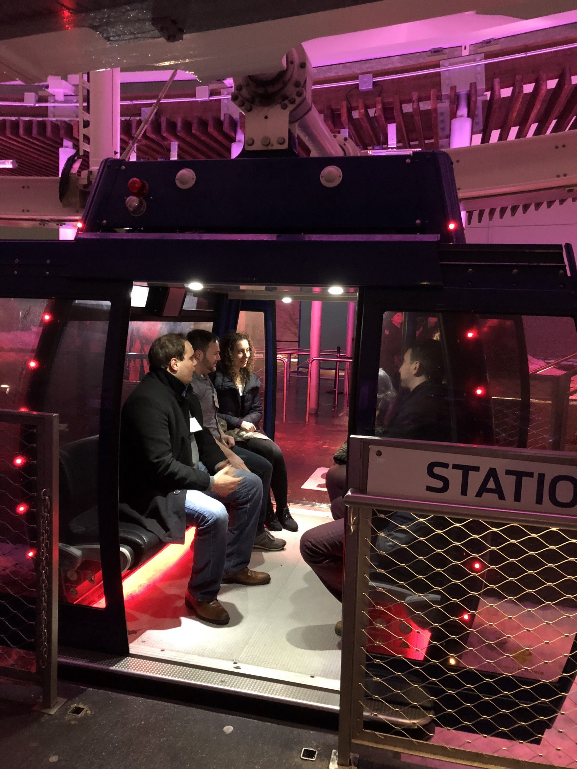 Each speed date lasted a full revolution of the Ferris wheel (about 12 minutes)