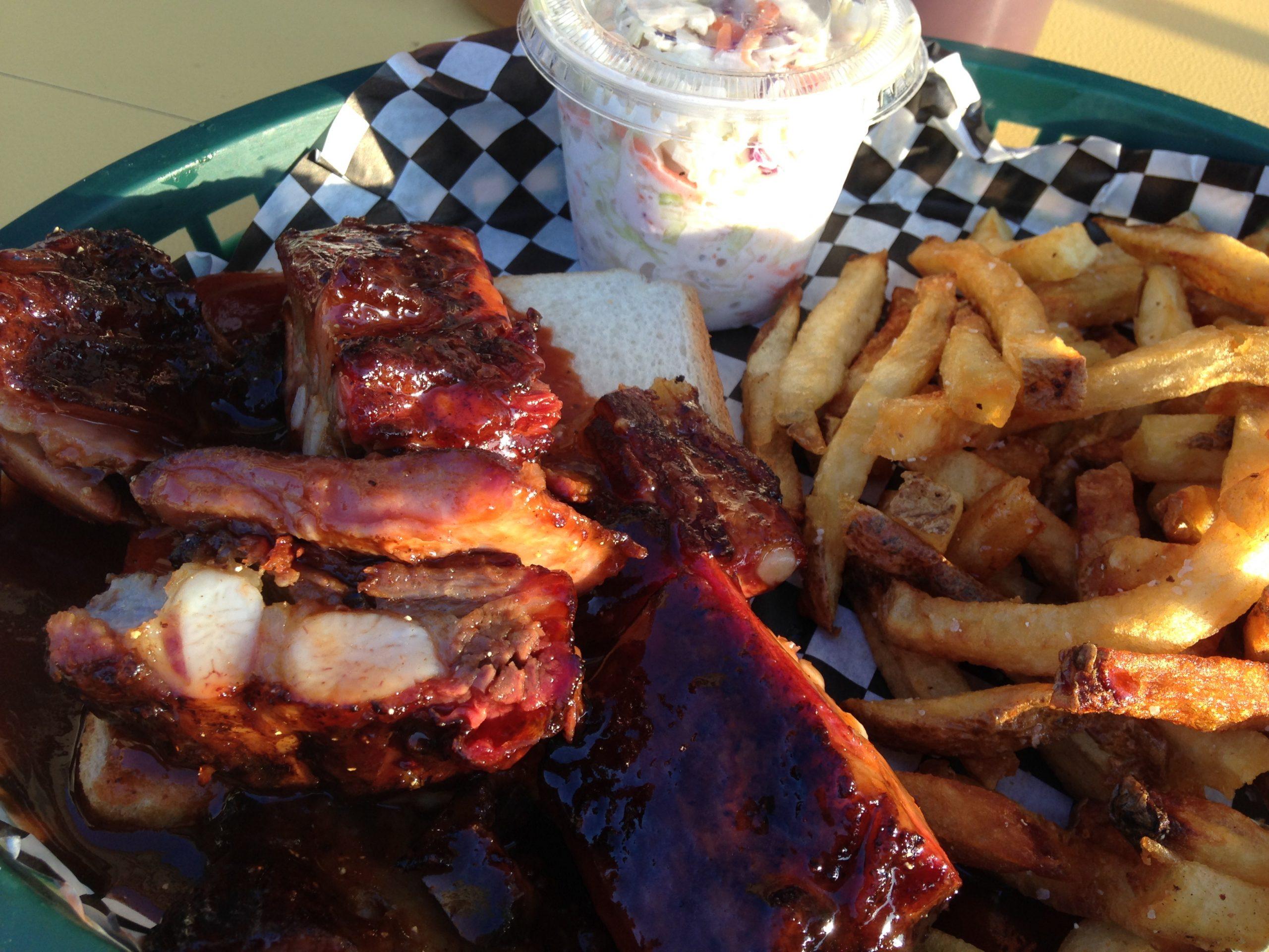 Rib tips at Steamboat Barbecue