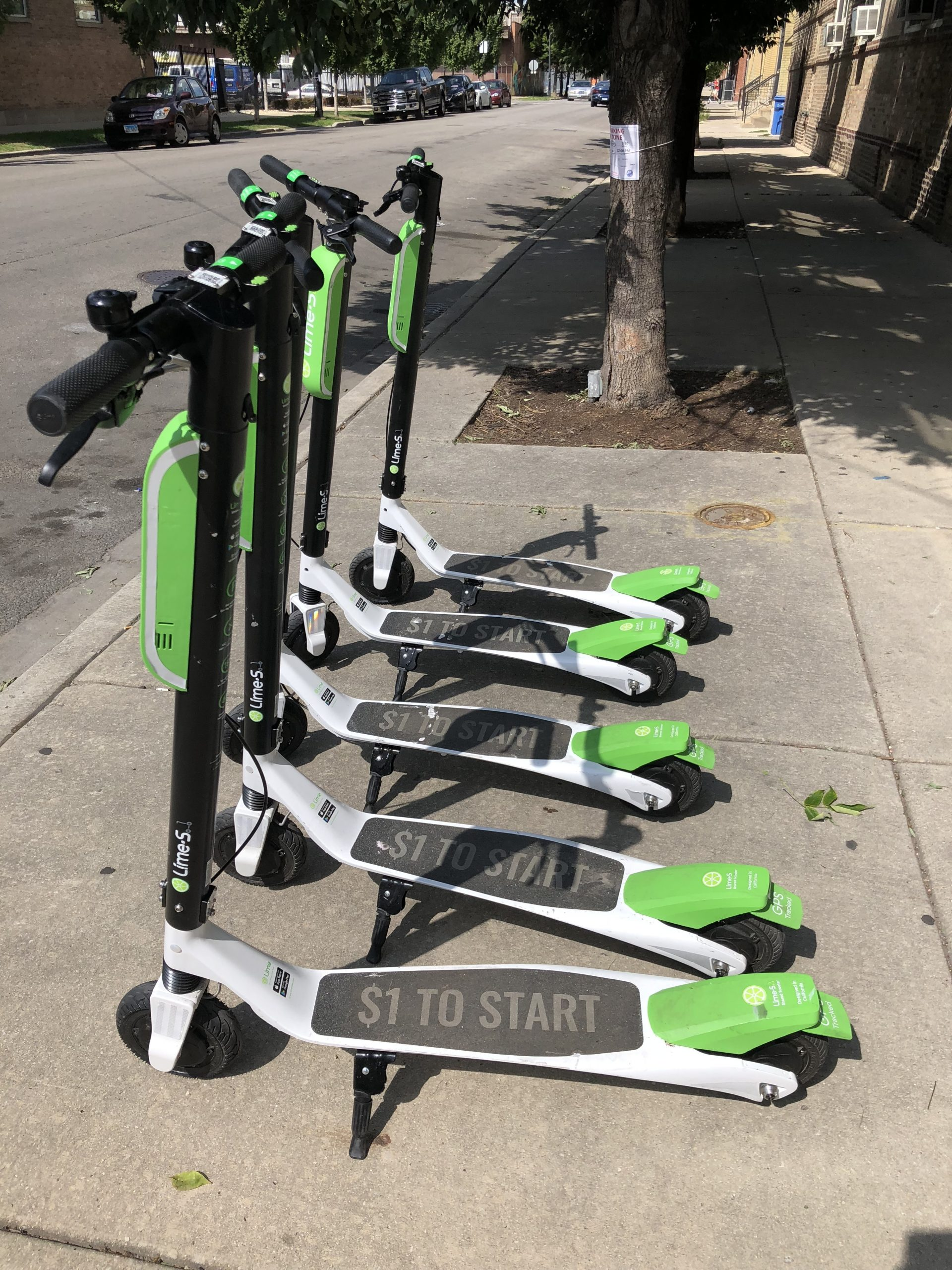 Lime demoed some of its e-scooters in Pilsen near Fiesta Del Sol over the weekend.