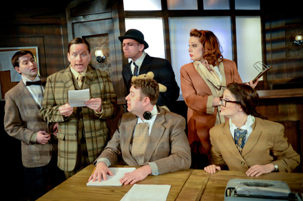 Eric Paskey, Michael Dailey, Jason Grimm, Scott Danielson, Christina Hall, and Sarah Goeden in Improbable Frequency