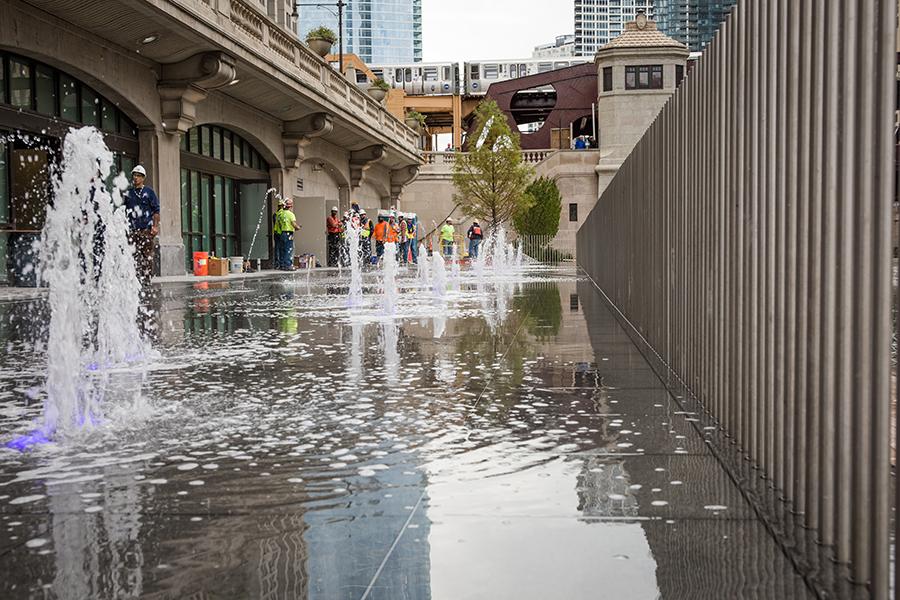 Chicago Riverwalk, Water Plaza