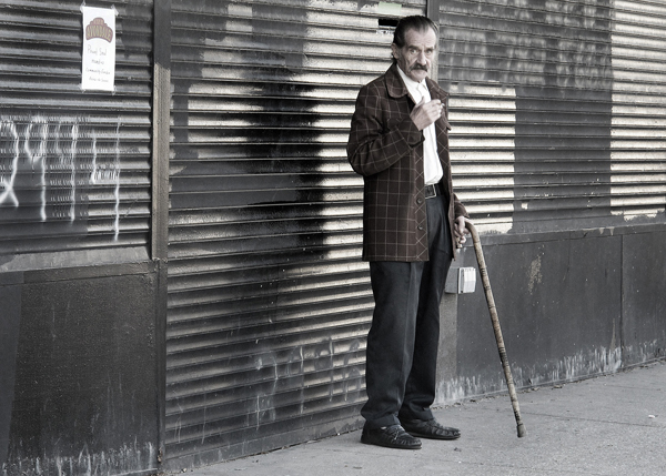 <em>Along Milwaukee Avenue.</em> Milwaukee Avenue, October. By Iwona Biedermann, 52, photographer, Wicker Park