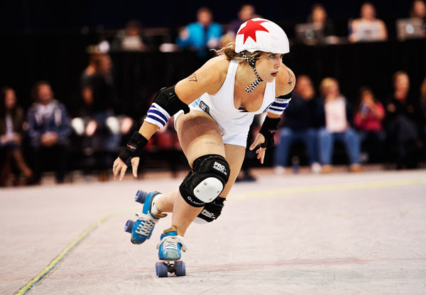 """""""Jackie Daniels"""" of the Windy City Rollers All-Stars"""