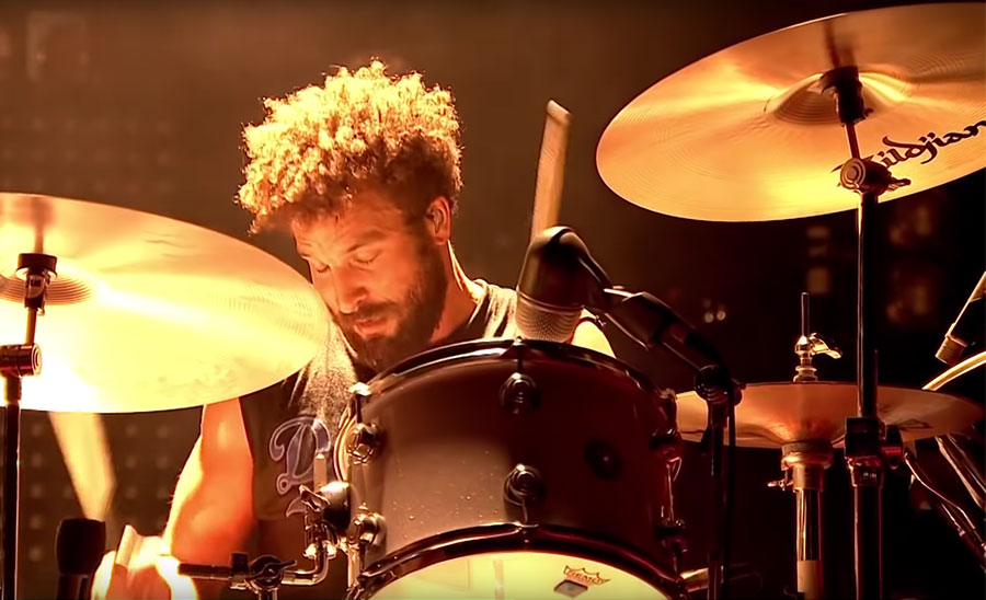 Jon Theodore with Queens of the Stone Age at the 2014 Reading Festival