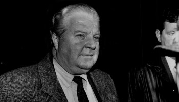 2/11/94 Chicago Police Cmdr. Jon Burge was fired when a review board found that he had participated in the brutality. Two detectives were suspended over the torture of Andrew Wilson, who is serving a life sentence for killing two policemen. (Image added 2018)
