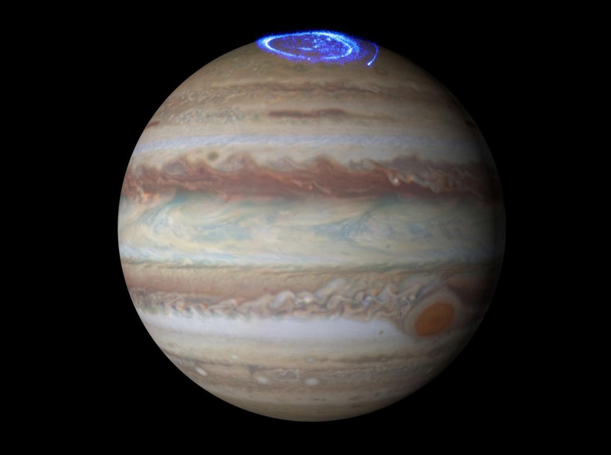 "Jupiter's auroras, whose radio signals NASA has converted into a kind of ""music"""