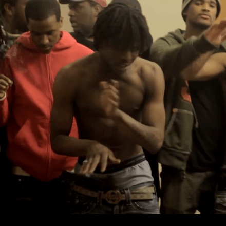 """Chief Keef and crew in a still from the video for """"I Don't Like"""""""