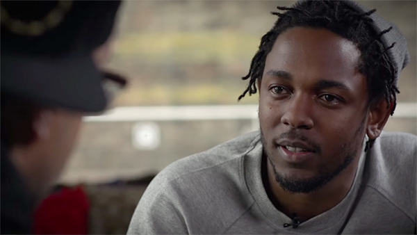"""Kendrick Lamar discusses """"The Blacker the Berry"""" with MTV in 2015."""