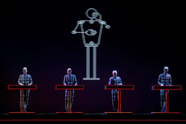 Kraftwerk performs a 3-D concert in the Dutch city of Eindhoven in 2013.