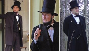 Lonn Pressnall, Larry Elliott, Murray Cox in Life as Lincoln