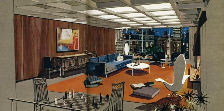 "From ""<i>Playboy</i> Architecture, 1953-1979"" at Elmhurst Art Museum"