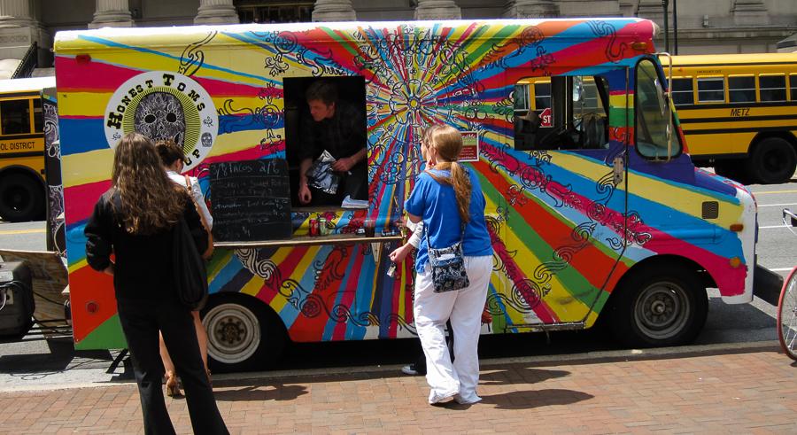 Fifteen food trucks line up on Humboldt Boulevard this weekend.