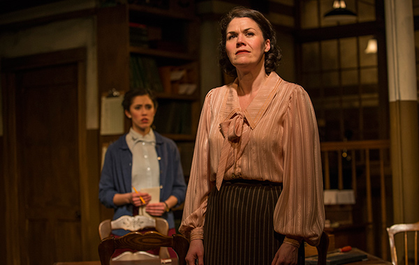 Rochelle Therrien and Vanessa Greenway in Griffin Theatre Company's <i>London Wall</i>