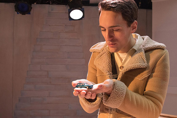 Sam Hubbard in Strawdog Theatre's <i>The Long Christmas Ride Home</i>