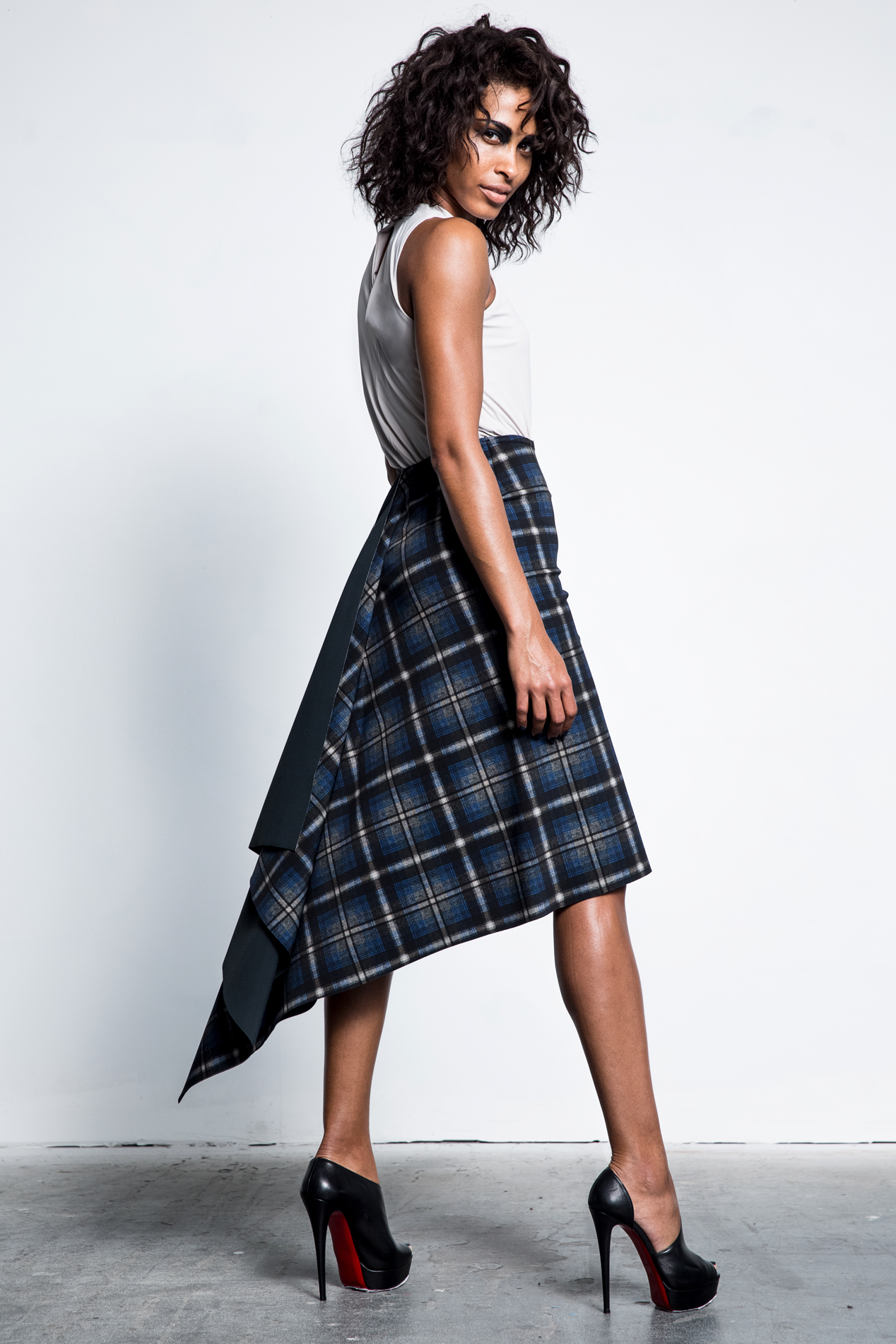 This Glenda skirt was made with one single piece of fabric.