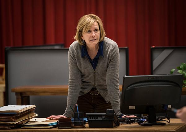 Mary Beth Fisher (Caroline) in rehearsal for <em>Luna Gale</em>