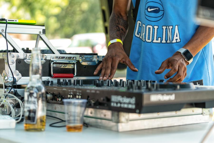 Teklife cofounder DJ Spinn on the turntables