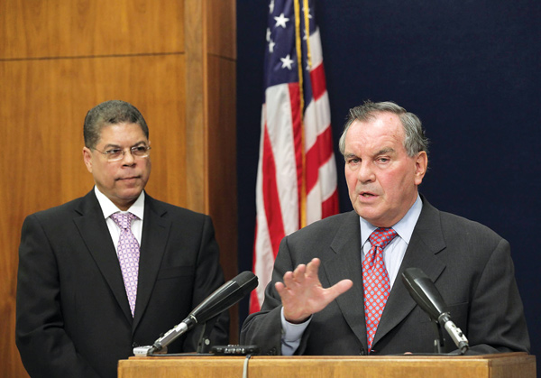Daley announcing Maldonado's aldermanic appointment in July