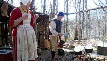 Reenactors at the National Maple Syrup Festival