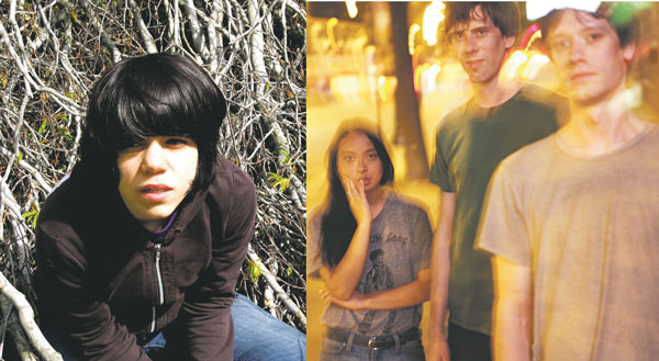 Marissa Paternoster of Screaming Females, left, talked to Rebecca Flores of Tyler Jon Tyler, right. Image of Paternoster courtesy of Don Giovanni Records.