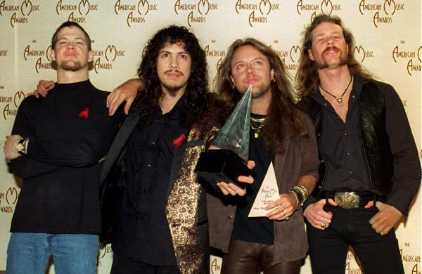 Metallica during the Jason Newsted era