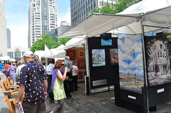 Art and shopping collide on Michigan Avenue.