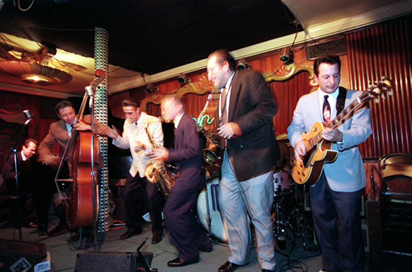 The Mighty Blue Kings at the Green Mill on February 11, 1996.