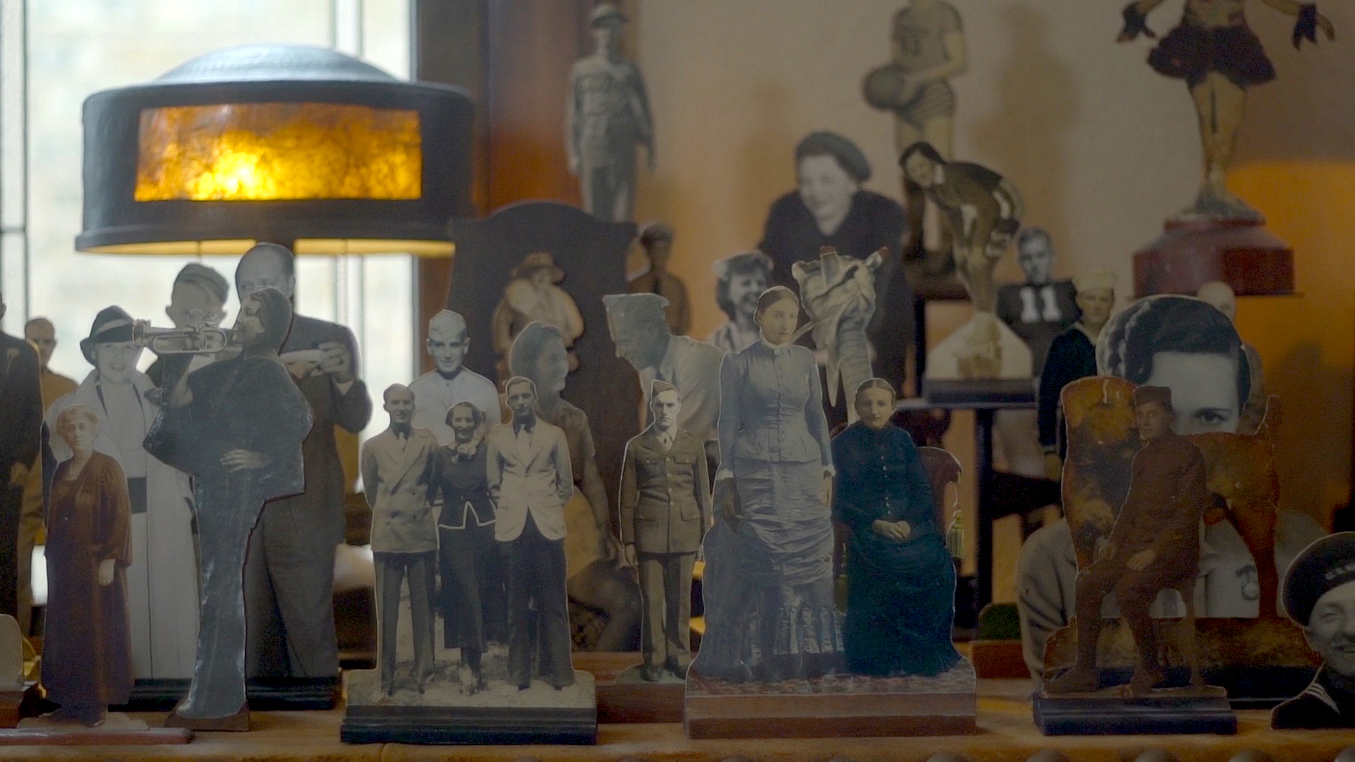 Photo paper dolls from Karen and Mike Williams's West Ridge bungalow