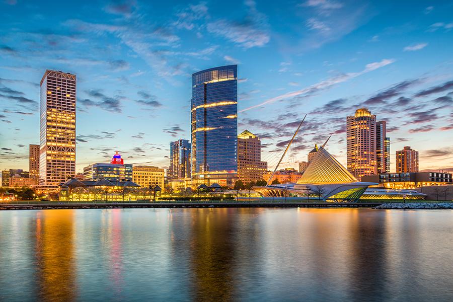 A view of the Milwaukee skyline