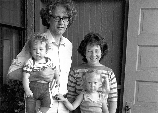 Michael Miner with his wife Betsy and their children in the mid-80s.