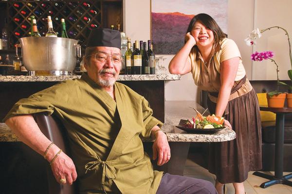 Seijiro Matsumoto and Annie Zheng at Mizu Yakitori