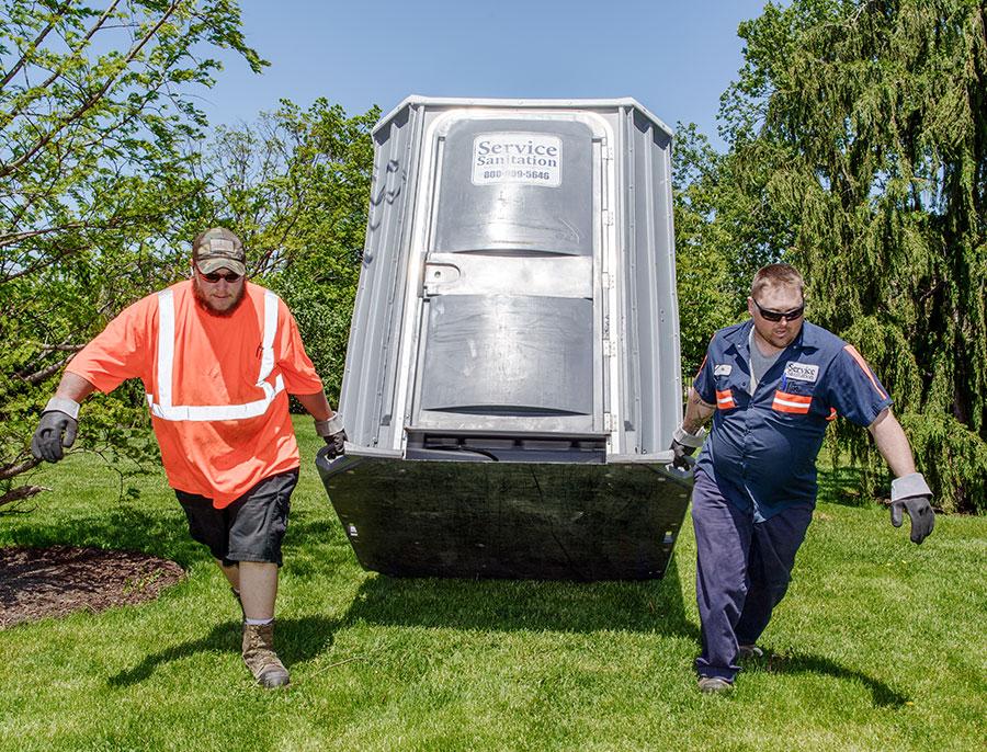 Service Sanitation employees Summa and Mosley
