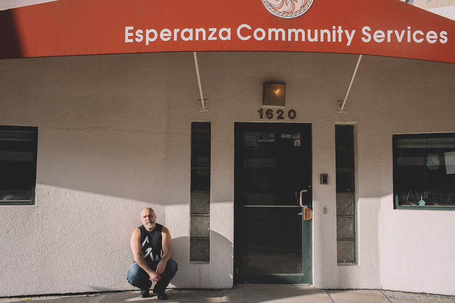 """""""Esperanza Community Services, it's cool that that's here, versus some fucking sports bar,"""" says Sorrondeguy."""