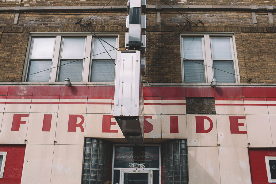 The Fireside's iconic red bowling-pin sign isn't quite visible from this angle, but any Chicago punk of a certain age can picture it perfectly.