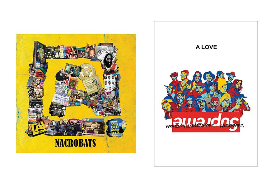 <i>A in the Square</i> compiles Nacrobats material from the late 1990s and early 2000s. Vinyl copies come with the book <i>A Love Supreme</i> until supplies run out.